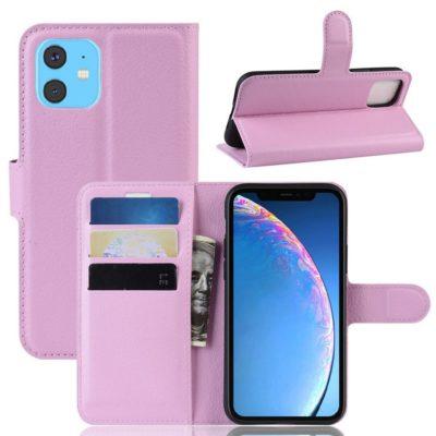 Apple iPhone 11 Suojakotelo PU-Nahka Vaaleanpunainen
