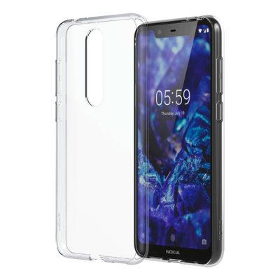Nokia 5.1 Plus Suojakuori Läpinäkyvä TPU-Muovi