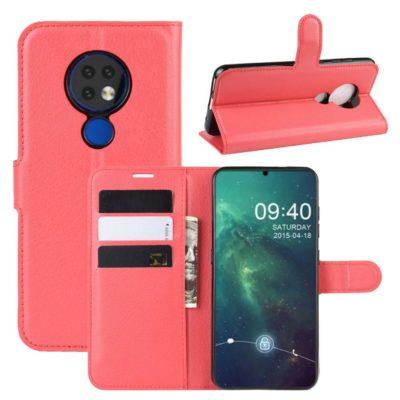 Nokia 7.2 Lompakkokotelo PU-Nahka Punainen