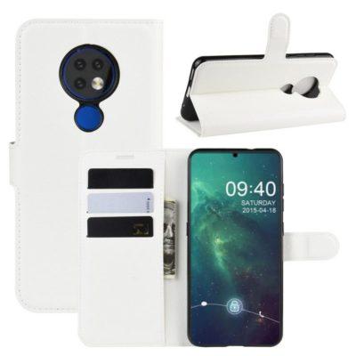 Nokia 7.2 Lompakkokotelo PU-Nahka Valkoinen