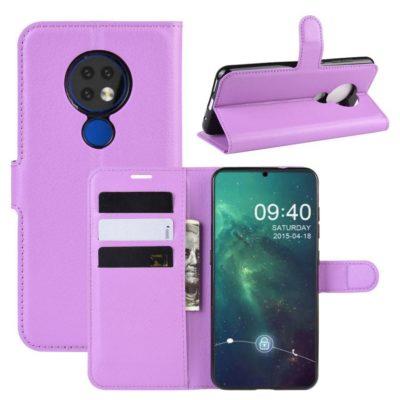Nokia 7.2 Lompakkokotelo PU-Nahka Violetti