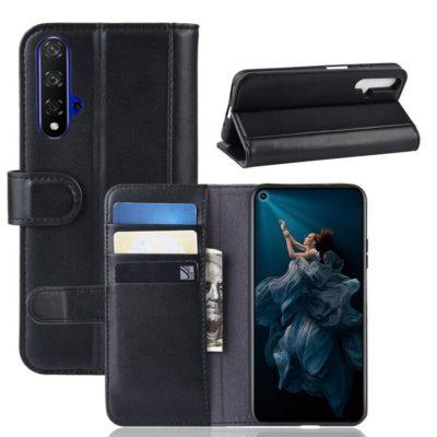 Huawei Nova 5T Suojakotelo Musta Nahka