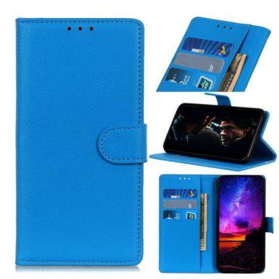 Motorola Moto E6 Plus Lompakkokotelo Sininen