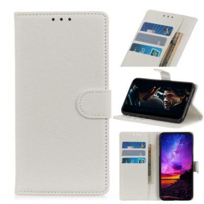 Motorola Moto E6 Plus Lompakkokotelo Valkoinen