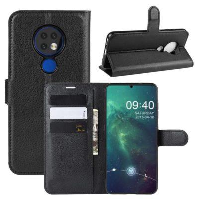Nokia 6.2 Suojakotelo PU-Nahka Musta