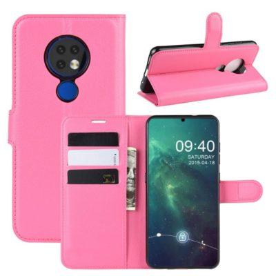 Nokia 6.2 Suojakotelo PU-Nahka Pinkki