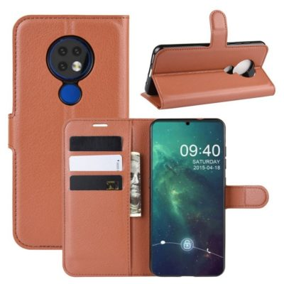 Nokia 6.2 Suojakotelo PU-Nahka Ruskea