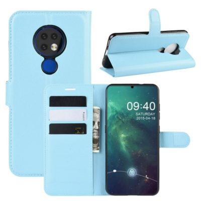 Nokia 6.2 Suojakotelo PU-Nahka Vaaleansininen