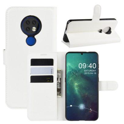 Nokia 6.2 Suojakotelo PU-Nahka Valkoinen
