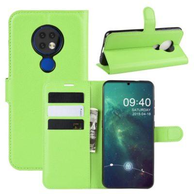 Nokia 6.2 Suojakotelo PU-Nahka Vihreä