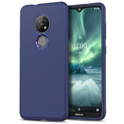 Nokia 6.2 Suojakuori Silikoni Sininen