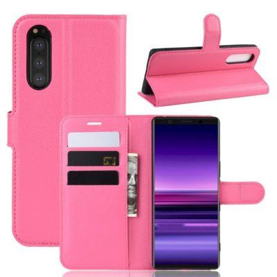 Sony Xperia 5 Suojakotelo PU-Nahka Pinkki