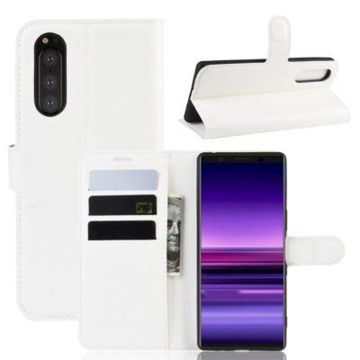 Sony Xperia 5 Suojakotelo PU-Nahka Valkoinen