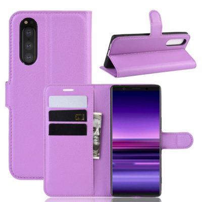 Sony Xperia 5 Suojakotelo PU-Nahka Violetti