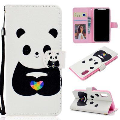 Huawei Honor 8S Lompakko Suojakotelo Panda 1