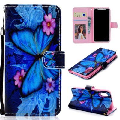 Huawei Honor 8S Lompakko Suojakotelo Perhonen 1