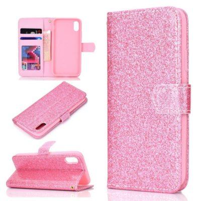 Huawei Honor 8S Suojakotelo Glitter Pinkki