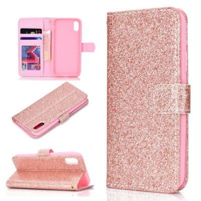 Huawei Honor 8S Suojakotelo Glitter Ruusukulta