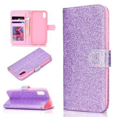 Huawei Honor 8S Suojakotelo Glitter Violetti