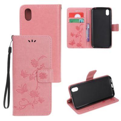 Huawei Honor 8S Suojakotelo Kukka Vaaleanpunainen