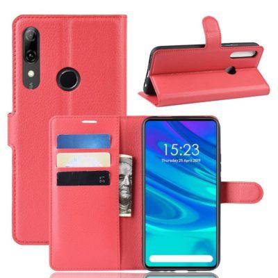 Huawei P Smart Z Kotelo PU-Nahka Punainen