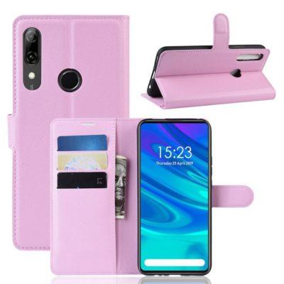 Huawei P Smart Z Kotelo PU-Nahka Vaaleanpunainen