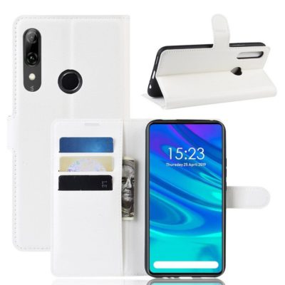 Huawei P Smart Z Kotelo PU-Nahka Valkoinen