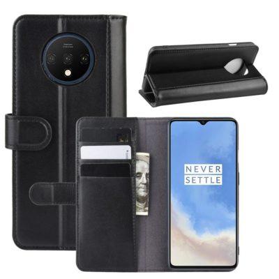 OnePlus 7T Lompakkokotelo Musta Nahka