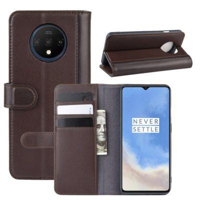 OnePlus 7T Lompakkokotelo Ruskea Nahka