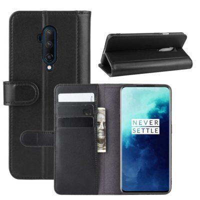 OnePlus 7T Pro Suojakotelo Musta Nahka