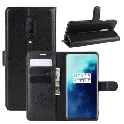 OnePlus 7T Pro Suojakotelo PU-Nahka Musta