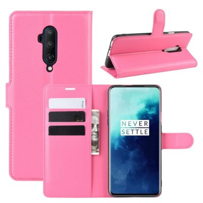 OnePlus 7T Pro Suojakotelo PU-Nahka Pinkki