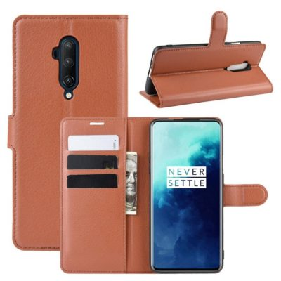 OnePlus 7T Pro Suojakotelo PU-Nahka Ruskea