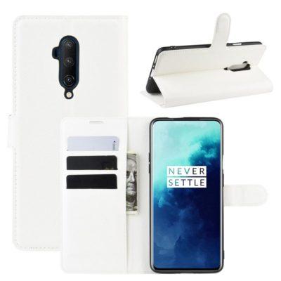 OnePlus 7T Pro Suojakotelo PU-Nahka Valkoinen