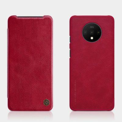 OnePlus 7T Suojakotelo Nillkin Qin Punainen