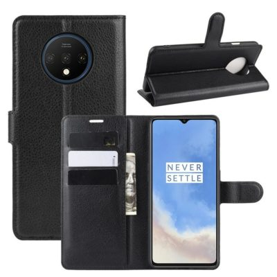 OnePlus 7T Suojakotelo PU-Nahka Musta