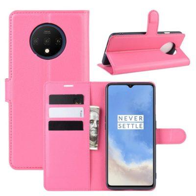 OnePlus 7T Suojakotelo PU-Nahka Pinkki