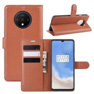 OnePlus 7T Suojakotelo PU-Nahka Ruskea