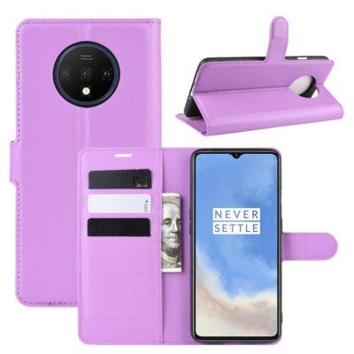 OnePlus 7T Suojakotelo PU-Nahka Violetti