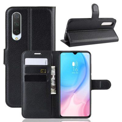 Xiaomi Mi 9 Lite Suojakotelo PU-Nahka Musta
