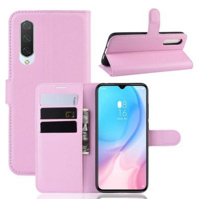 Xiaomi Mi 9 Lite Suojakotelo PU-Nahka Vaaleanpunainen