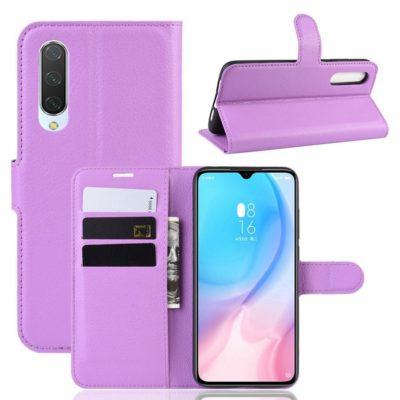 Xiaomi Mi 9 Lite Suojakotelo PU-Nahka Violetti