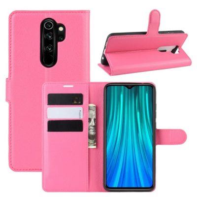 Xiaomi Redmi Note 8 Pro Suojakotelo PU-Nahka Pinkki