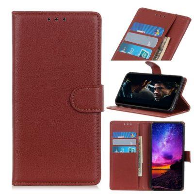 Motorola Moto E6 Play Kotelo Ruskea Lompakko
