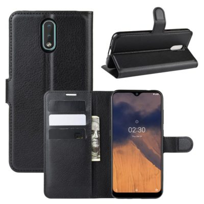 Nokia 2.3 Suojakotelo PU-Nahka Musta