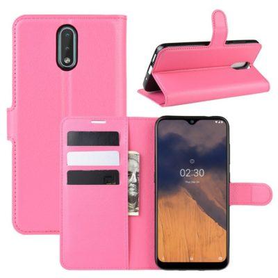 Nokia 2.3 Suojakotelo PU-Nahka Pinkki