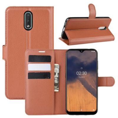Nokia 2.3 Suojakotelo PU-Nahka Ruskea