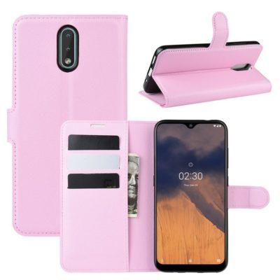 Nokia 2.3 Suojakotelo PU-Nahka Vaaleanpunainen