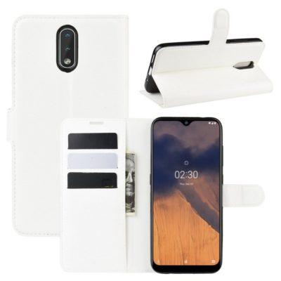 Nokia 2.3 Suojakotelo PU-Nahka Valkoinen