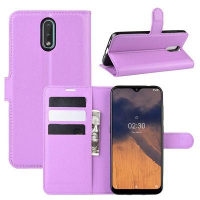 Nokia 2.3 Suojakotelo PU-Nahka Violetti